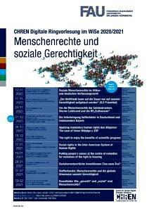 Flyer zur CHREN Digitalen Ringvorlesung WiSe 2020/2021